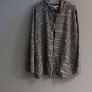 Max Studio hoody, jacket, plaid 2X